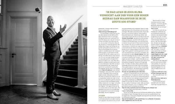 Interview Maasbert Schouten Quote 2015